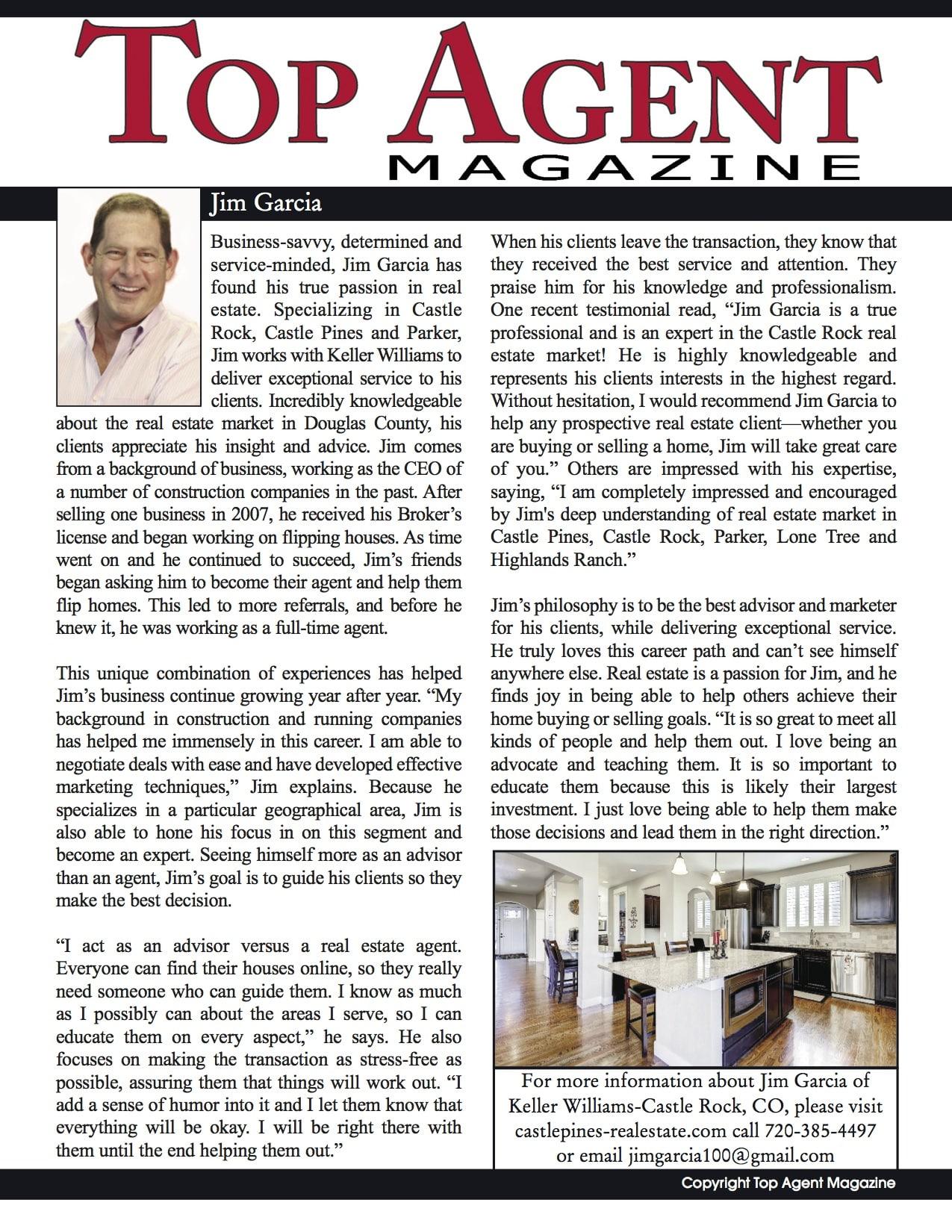 Top Agent Magazine - Best Realtor in Castle Rock CO