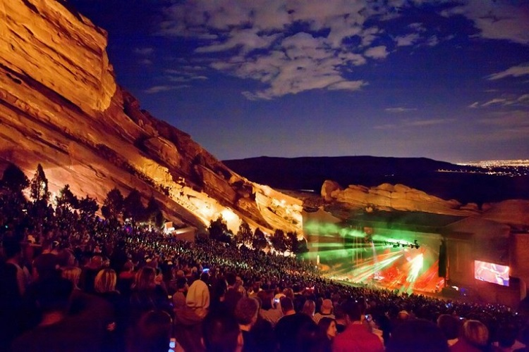 Concert at Red Rocks Amphitheater
