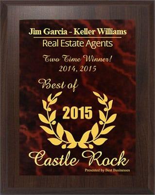 Jim Garcia Best Realtor Castle Rock - 2 Years in Row