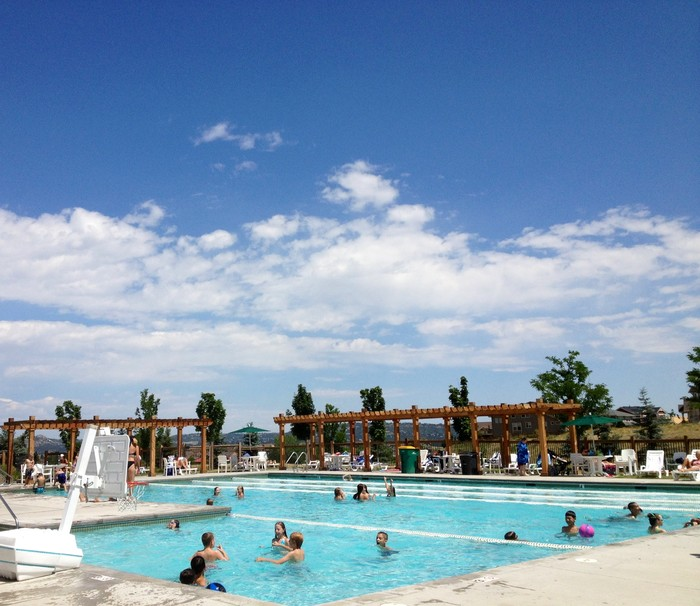 Outdoor Pool at The Grange, Castle Rock
