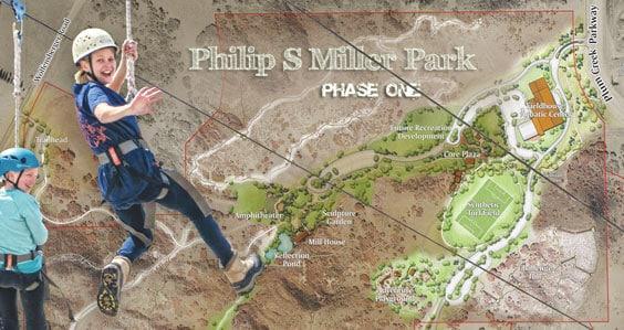 New Zip Lines at Phillip S. Miller Park, Castle Rock