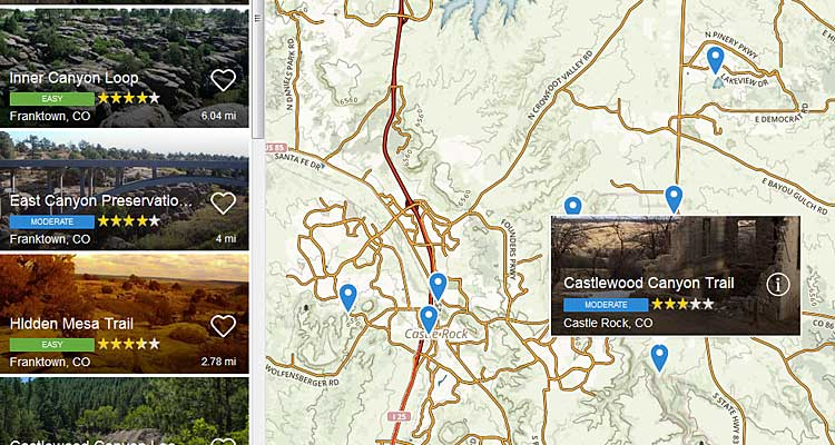 All Trails Interactive Mapping