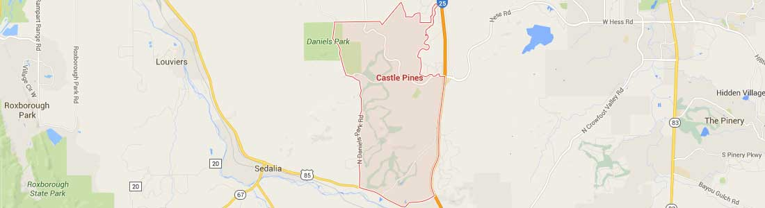 Open Google Castle Pines Homes Boundary Map