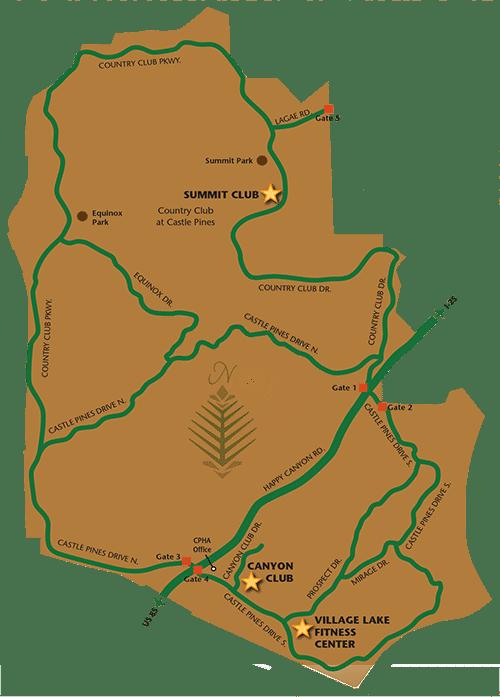 Castle Pines Village Map