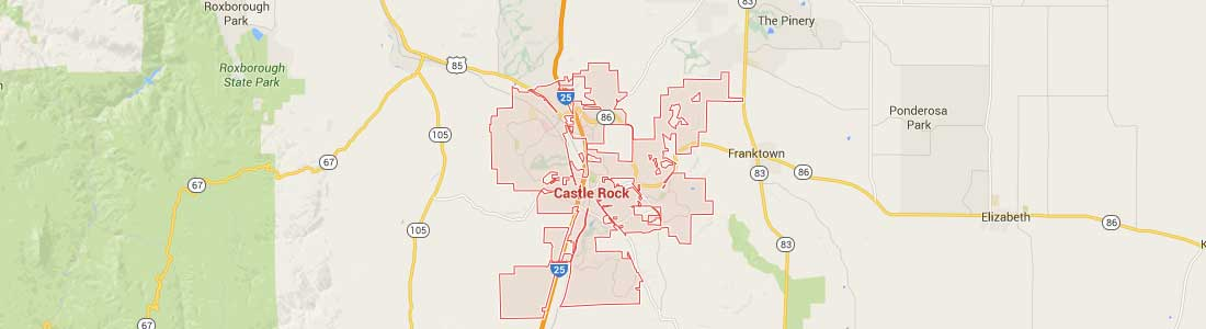 Open Google Castle Rock Homes Boundary Map