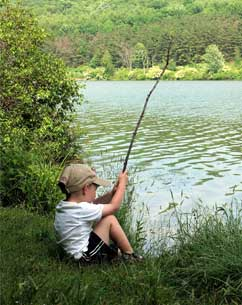 Child Fishing in Colorado
