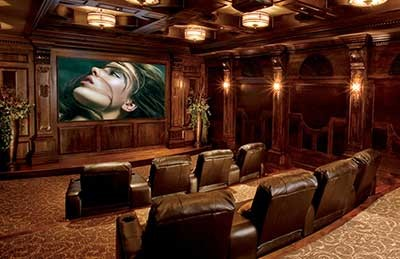 Home Theater in a Timbers Home