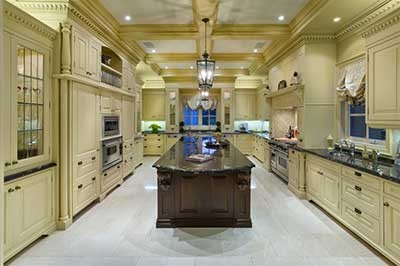 Kitchen in Luxury Timbers Home