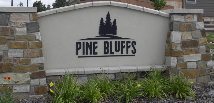 Pine Bluffs Parker CO Sign