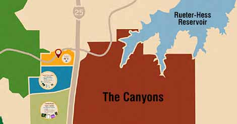 The Canyons Development  Next to the Rueter-Hess Reservoir