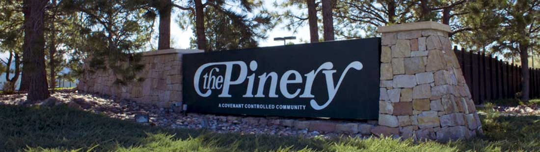 The Pinery Parker CO Subdivision Entrance Sign